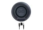 Превью-изображение №4 для товара «Беспроводная колонка с подсветкой Momax SPACE True Wireless 360 Black»